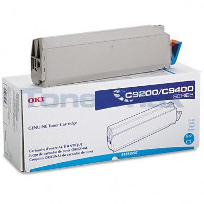 OKIDATA C9000 TYPE C3 TONER CYAN